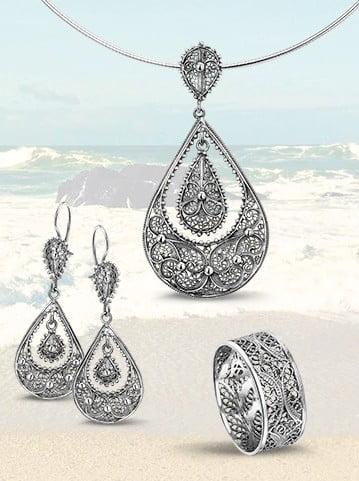zilveren sieraden in filigrain amfora goudsmid sluis