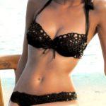 chaland bikini noir