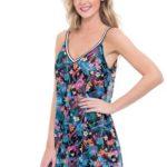jurkje gottex profile blush mesh dress z706-581a
