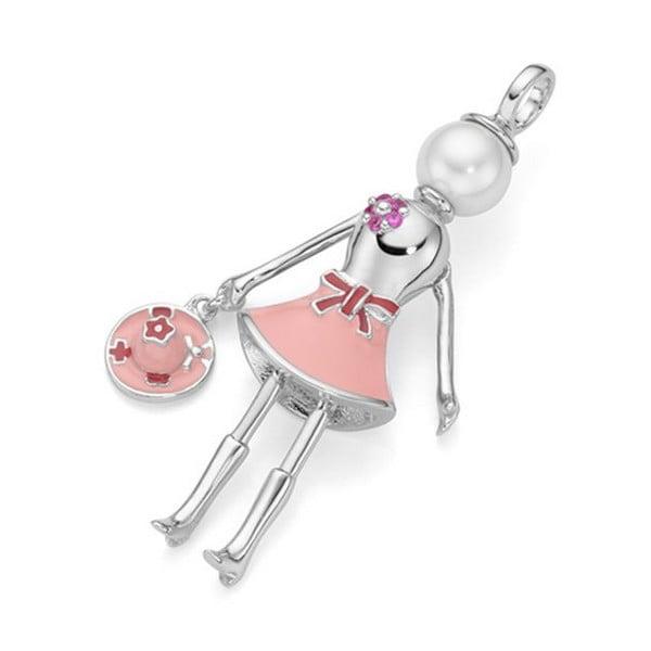 giorgio martello popje pink zilver