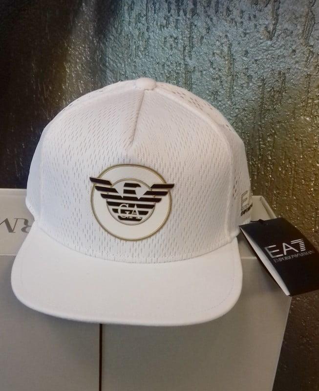 ea7 cap white swimwear amfora sluis