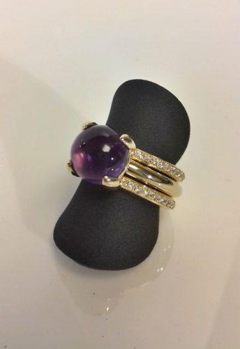 edelsmid atelier rinen goud diamant ametyst opdracht klant