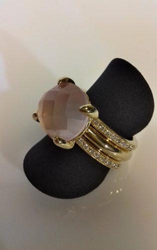 rosekwarts goud diamant ring atelier