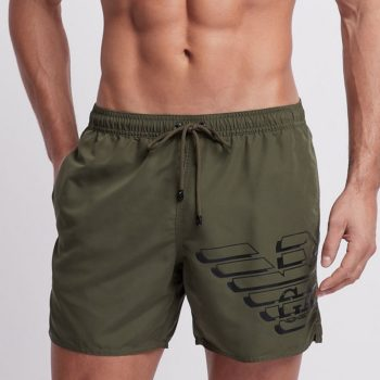 armani zwemshorts in military green