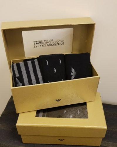 emporio armani 3-pack socks gift box amfora sluis