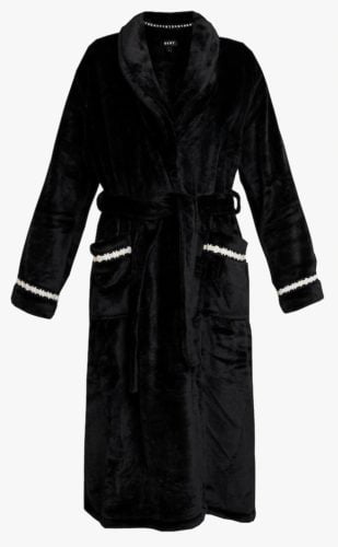 dkny badjas fleece zwart