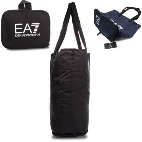 EA7 SHOPPING BAG ZWART