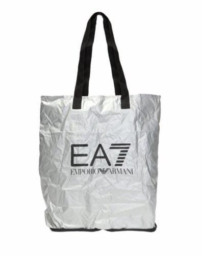 SILVER BAG EA7 FOLDABLE