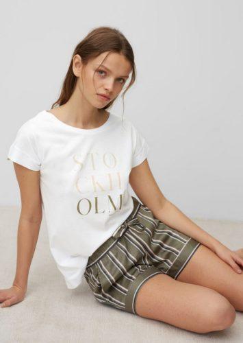 marc o polo loungewear t-shirt korte broek 170906