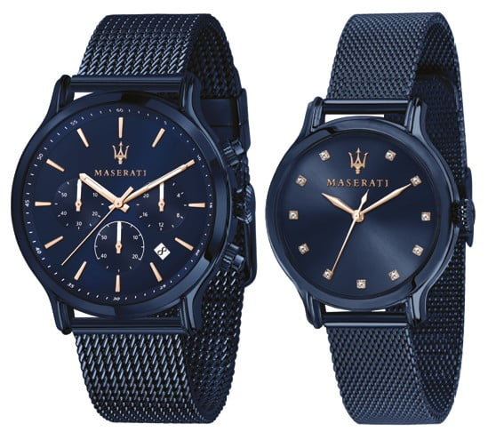 MASERATI SET HORLOGES BLUE EDITION