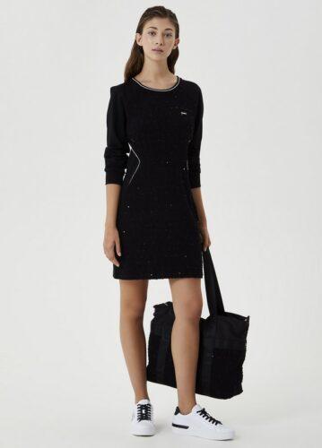 LIU JO SPORT DRESS ANTLERS BLACK portswear-sport dresses-TF0148 amfora bodyfashion
